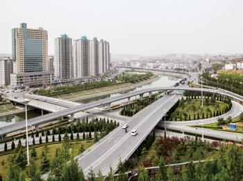 阳城滨河东路一期工程照片全景